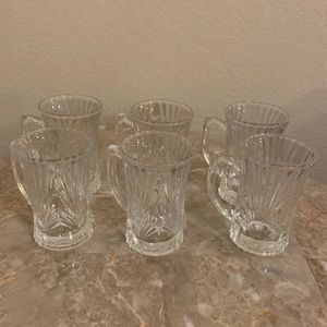 Crystal Tea Cups - Set of 6